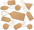 Tags set of with cord Stock Image