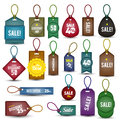 Tags vintage collection can use for promotion banner Stock Image