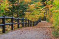 Tahquamenon Falls Path in Autumn Royalty Free Stock Photo