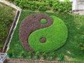 Tai Chi Symbol in garden, wong tai sin temple Royalty Free Stock Photo