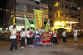 Tai Hang Fire Dragon Dance in Hong Kong Stock Photography