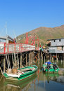 Tai O fishing village Royalty Free Stock Images