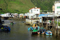Tai O fishing village Royalty Free Stock Photos