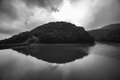 Tai tam reservoir hong kong it is one of the reservoirs in Stock Images