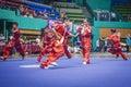 Taichi wushu performance at an international tournament Royalty Free Stock Photos