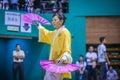 Taichi wushu performance at an international tournament Stock Images