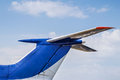 Tail of airplane Royalty Free Stock Photo