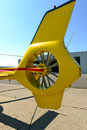 Tail of helicopter with rotor Stock Images