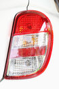 Tail light on the right of car Stock Photography