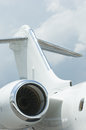 Tail plane of corporate jet Royalty Free Stock Photo