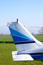 Tail small airplane Royalty Free Stock Photo