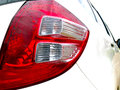 Taillight of a whte car in parking Royalty Free Stock Photo