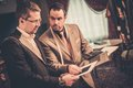 Tailor and his client Royalty Free Stock Photo