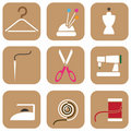 Tailor icons Royalty Free Stock Image