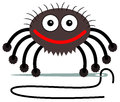 Tailor spider a cartoon illustration of a holding a needle with a string Royalty Free Stock Image