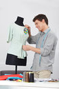 Tailor working on dress form Stock Photography