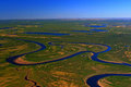The taimyr tundra in the spring photo from a helicopter siberia russia Stock Photography
