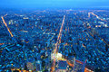 Taipei city at night Royalty Free Stock Photo