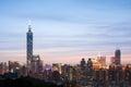 Taipei city night Royalty Free Stock Photo