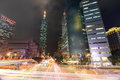 Taipei City Street at Night Royalty Free Stock Photo