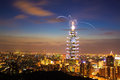 Taipei101 firework show Royalty Free Stock Photo