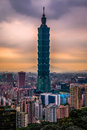 Taipei 101 in HDR, Taiwan Royalty Free Stock Photo