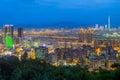 Taipei at night Royalty Free Stock Photo