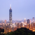 Taipei by night taiwan view of s downtown Royalty Free Stock Images