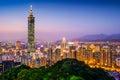 Taipei Skyline Royalty Free Stock Photo