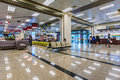Songshan airport seating and check-in area Royalty Free Stock Photo