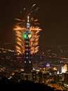 Taipei101 firework Royalty Free Stock Photography