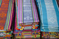 Tais fabric in dili east timor, timor leste Royalty Free Stock Photo