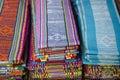 Tais fabric in dili east timor, timor leste Royalty Free Stock Photo
