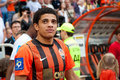 Taison forward of football club shakhtar donetsk before a match metalurh d premier league donbass arena Royalty Free Stock Images