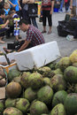 Taiwan businessmen selling coconuts in amoy city china taiwanese food festival held xiamen Royalty Free Stock Photography