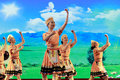 Taiwan gaoshan nationality dancers is austronesian various ethnic groups collectively mainly engaged in the production Royalty Free Stock Photos