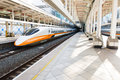 Taiwan high speed rail kaohsiung station platform august august in s railway has Stock Photography