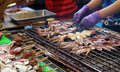 Taiwan night market street food, grilled squid Royalty Free Stock Photo