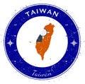Taiwan, Republic Of China circular patriotic. Royalty Free Stock Photo