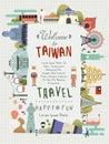 Taiwán viajar cartel