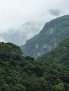 Taiwan tropical mountainscape in taroko national park in Royalty Free Stock Images