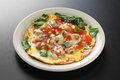 Taiwanese oyster omelet Royalty Free Stock Photo