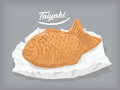 Taiyaki japanese vector and cliparts