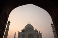 Taj mahal agra india image taken through an archway ever so slightly grainy Stock Image