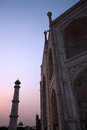 Taj mahal agra india image taken as sun was setting Royalty Free Stock Photo