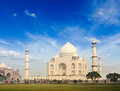 Taj mahal agra india indian symbol travel background Royalty Free Stock Photography