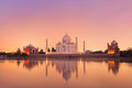 Taj Mahal in Agra, India on sunset Royalty Free Stock Photo