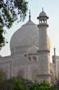 Taj mahal agra uttar pradesh india the crown of palaces is a white marble mausoleum located in it was built by mughal emperor shah Stock Photo