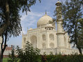 Taj Mahal from an angle Royalty Free Stock Photo