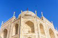 Taj Mahal, Blue sky,  India Royalty Free Stock Photo